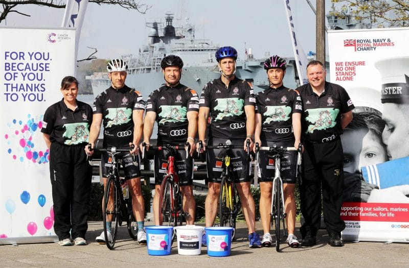 WBW Solicitors Support HMS DRAKE Charity Bike Ride
