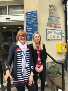 Helen Mackie - Brixham Library and Lisa Stanton from WBW Solicitor