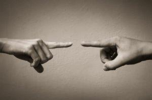 pointing finger blame