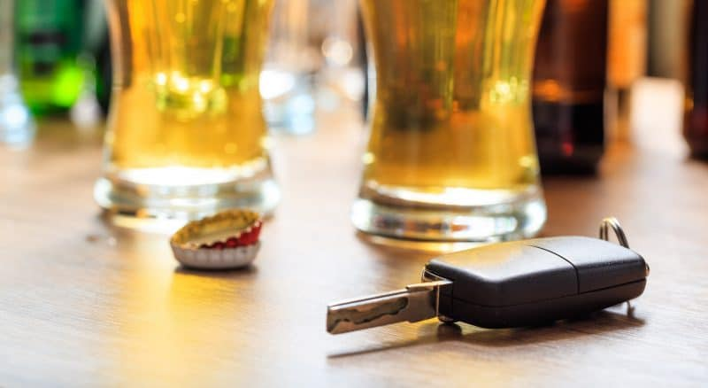 drunk driver beer car keys