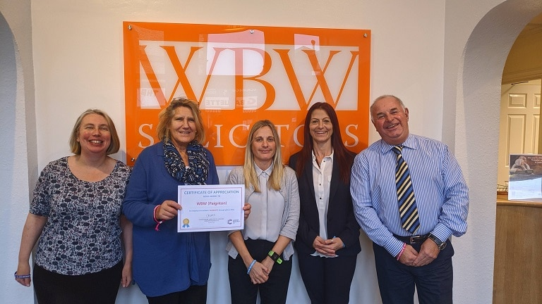 WBW Solicitors help to raise over £10million for Cancer Research UK