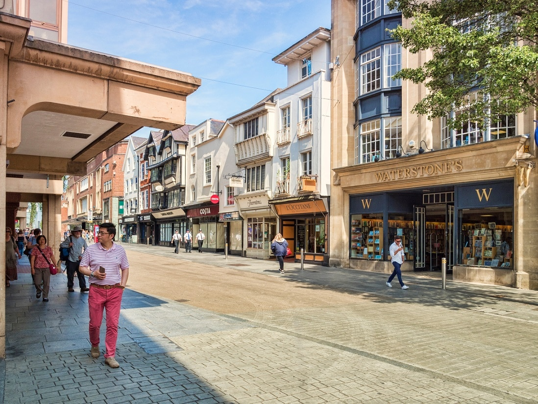 Exeter High Street Business Shops Lease