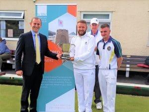 Chris Hill presenting a Trophy at ERBC Tournament 2019